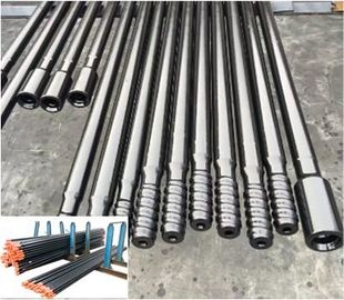 Durable Top Hammer Drilling Drifting Extension Rod And Threaded Drill Rod